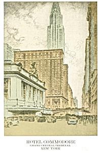 New York City NY Hotel Commodore Postcard p14427 (Image1)