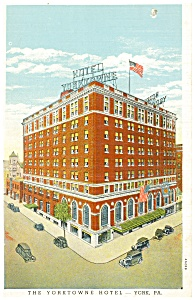 York Pa The Yorktowne Hotel Postcard P14439