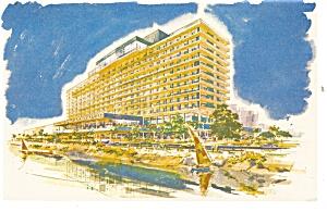 Cairo Egypt  Nile Hilton Postcard p14440 (Image1)