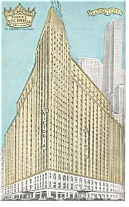 New York City NY Hotel Victoria Postcard p14441 (Image1)