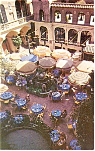 Riverside Ca Mission Inn Patio Postcard P14457