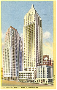 Pittsburgh PA Koppers and Gulf Buildings Postcard p14462 (Image1)