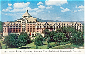 Roanoke, VA, Hotel Roanoke Postcard (Image1)