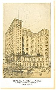 New York City  NY Hotel Commodore Postcard p14479 (Image1)