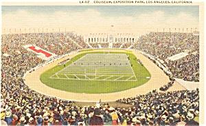 Los Angeles CA Coliseum Postcard p1448 (Image1)