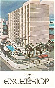 San Juan Puerto Rico Hotel Excelsior Postcard p14499 (Image1)