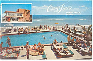 Miami Beach FL The New Chez Paree Postcard p14505 1969 (Image1)