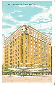 Cleveland OH Hotel Auditorium Postcard p14508 (Image1)