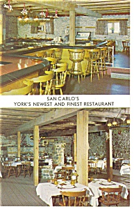 York   PA  San Carlos Restaurant Postcard p14515 (Image1)