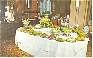 Youngstown  OH Crystal Dining Room Postcard p14519 1960 (Image1)