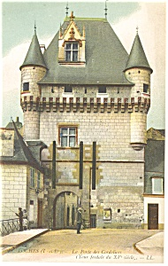 Tours France La Porte des Cordeliers Postcard p14534 1918 (Image1)