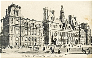 Paris France L Hotel De Ville Postcard P14542