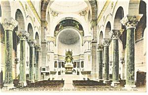 Tours  France Interior Basilique Saint Martin Postcard p14543 (Image1)