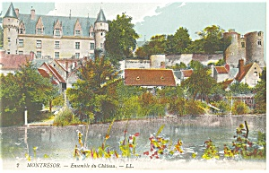 Montresor France Ensemble du Chateau Postcard p14561 (Image1)