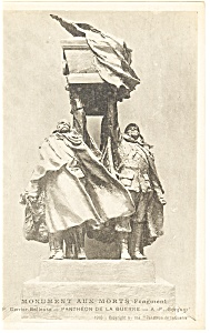 Pantheon De La Guerre Monument Aux Morts France Postcard p14587 (Image1)