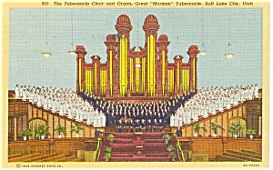 Salt Lake City Utah Tabernacle Choir Postcard P1458