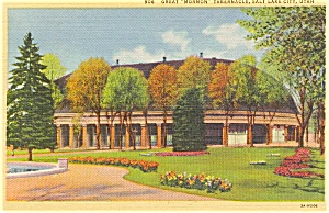 Salt Lake City Utah Tabernacle Postcard P1459