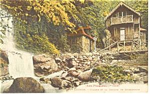 Luchon, France-Chalets et la Cascade Postcard (Image1)