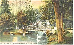 Tours, France-Jardin des Prebendes d'Oe Postcard (Image1)