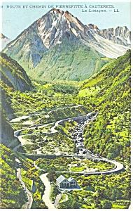 Route et Chemin de Pierrefitte Postcard 1919 (Image1)