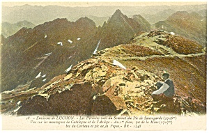 Luchon, France-Les Pyrenees vues du Sommet Postcard (Image1)