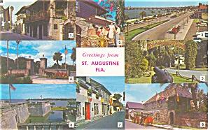 St Augustine Multi View Postcard p14626 1967  (Image1)