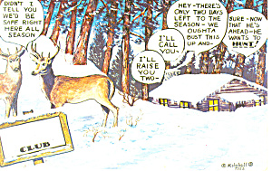 Deer Hunting Comical  Postcard (Image1)