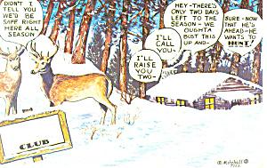 Deer Hunting Comical  Postcard p14631 (Image1)