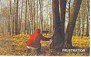 Frustration! Deer Hunter Postcard (Image1)