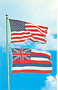 Hawaii State Flag Postcard p14730 (Image1)