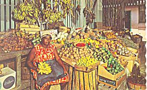 Caribbean Native Market Postcard p14763 (Image1)