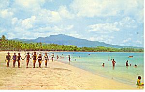 Luquillo Beach, Puerto Rico Postcard (Image1)