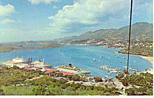 Charlotte Amalie St Thomas VI Postcard p14807 (Image1)