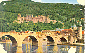 Heidelberg, Bridge and Castle Postcard (Image1)