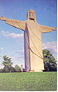 Christ of the Ozarks, Eureka Springs,AR Postcard (Image1)