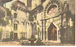 Mission Inn, CA, Hand Colored Postcard (Image1)