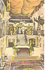 Mission Inn Ca Hand Colored Postcard P14861