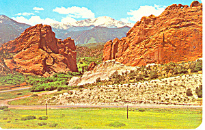 Gateway,Garden Of The Gods, CO Postcard (Image1)