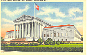 Us Supreme Court Building Washington Dc Postcard P14892