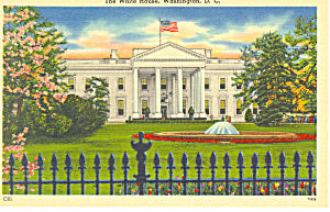 White House North Front Washington, DC Postcard (Image1)