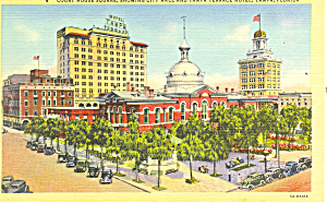 Tampa Fl Court House Square Postcard P14926