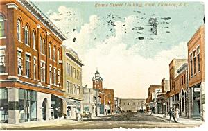 Florence SC Evans Street Postcard p15011 1914 (Image1)