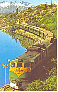 White Pass Railroad Passenger Train Postcard p15024 (Image1)