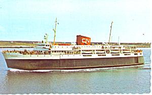 CN Ferry MV Bluenose Postcard p15045 (Image1)