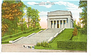 Hodgenville Ky Lincoln Memorial Postcard P1505
