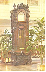 Clock Monteleone Hotel New Orleans LA Postcard p15089 (Image1)