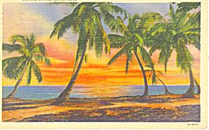 Sunrise on the Florida Coast Postcard p15093 1941 (Image1)