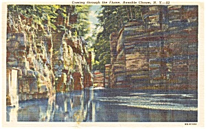 Ausable Chasm Ny Postcard P1510