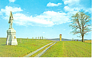 Bloody Lane,Antietam Battlefield, MD  Postcard (Image1)
