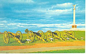 Field Artillery,Antietam Battlefield, MD  Postcard (Image1)